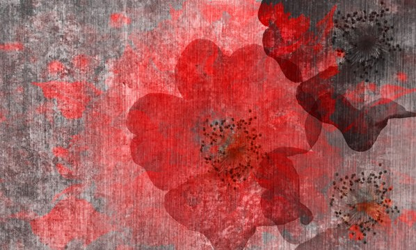 Modern Graphic Digital Floral Art Design
